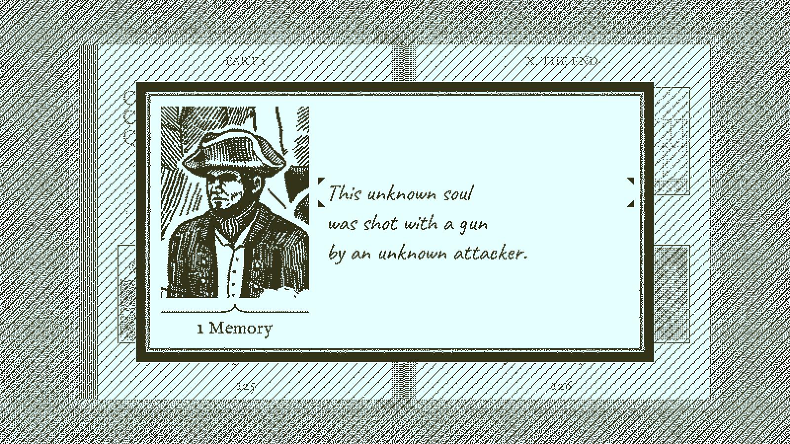 Figure 6: 游戏前期出现的一位人物,你需要正确填写出他的身份和死因